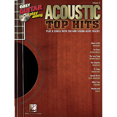 Hal Leonard Acoustic Top Hits Easy Guitar Play-Along Volume 2 Book/CD