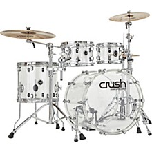 Acrylic 4-Piece Shell Pack with 22 in. Bass Drum Clear