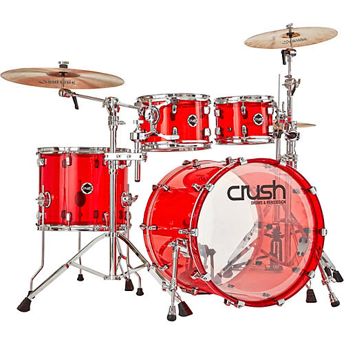 Crush Drums & Percussion Acrylic 4-Piece Shell Pack with 22 in. Bass Drum