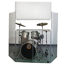 Control Acoustics Acrylic Drum Shield with Removable Front Panel