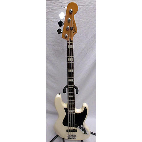 used fender active jazz bass electric bass guitar olympic white guitar center. Black Bedroom Furniture Sets. Home Design Ideas