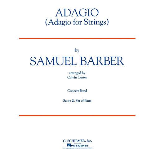 G. Schirmer Adagio for Strings Concert Band Level 3 Composed by Samuel Barber