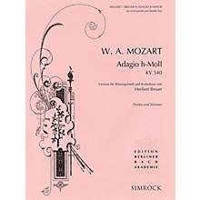 Simrock Adagio in B Minor, K .540 Composed by Wolfgang Amadeus Mozart Arranged by Heribert Breuer