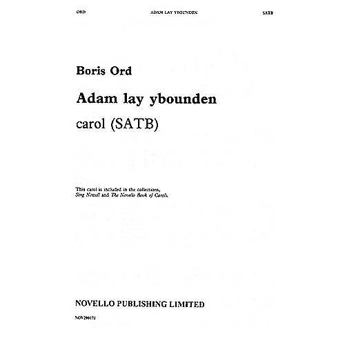 Novello Adam Lay Ybounden SATB Composed by Boris Ord