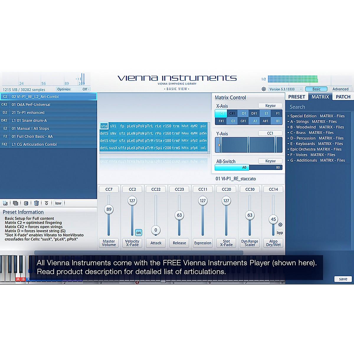 Vienna Instruments Additional Winds Bundle Standard Library