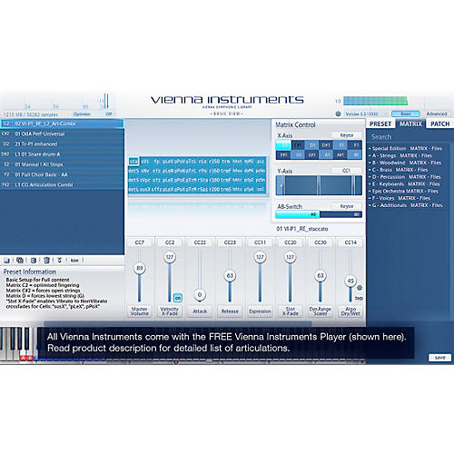 Vienna Instruments Additional Winds Bundle Upgrade to Full Library