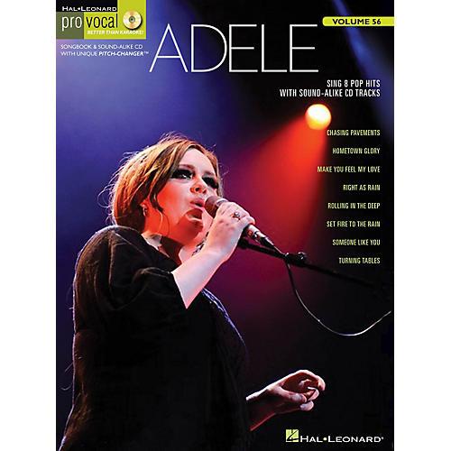 Hal Leonard Adele Pro Vocal Women's Edition Volume 56 Songbook/CD
