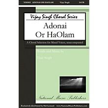 National Music Publishers Adonai 'Or Ha-'Olam SATB a cappella composed by Vijay Singh