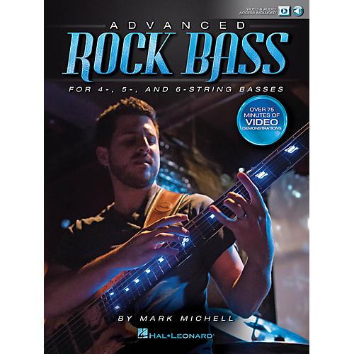 Hal Leonard Advanced Rock Bass Bass Instruction Series Softcover Media Online Written by Mark Michell