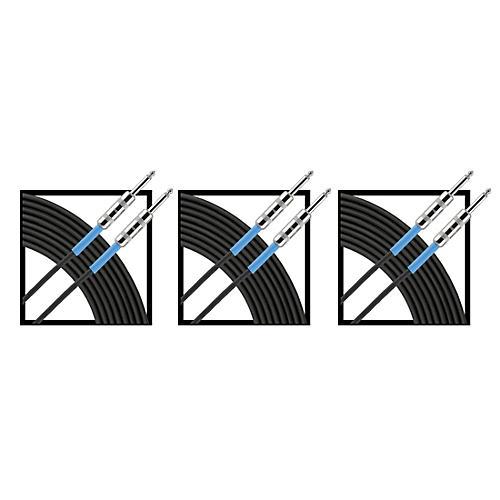 Livewire Advantage Instrument Cable Regular 10 ft. Black 3-Pack