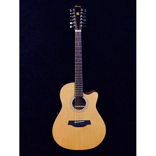 Ibanez Aef1512e Natural 12 String Acoustic Electric Guitar
