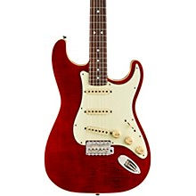 Aerodyne Classic Stratocaster FMT Rosewood Fingerboard Electric Guitar Crimson Red Transparent