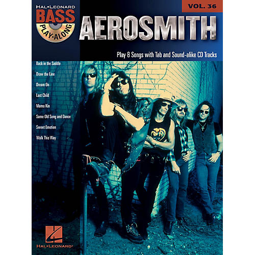 Hal Leonard Aerosmith - Bass Play-Along Volume 36 Book/CD