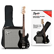 Affinity PJ Bass Pack with Fender Rumble 15G Amp Black
