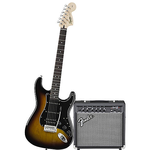 Squier Affinity Series HSS Stratocaster Electric Guitar Pack with ...