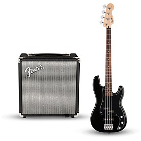 squier affinity series pj bass pack with fender rumble 15w 1x8 bass combo amp guitar center. Black Bedroom Furniture Sets. Home Design Ideas