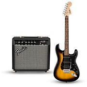 Affinity Series Strat Pack HSS Electric Guitar with Fender Frontman 15G Amp Brown Sunburst