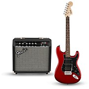 Affinity Series Strat Pack HSS Electric Guitar with Fender Frontman 15G Amp Candy Apple Red