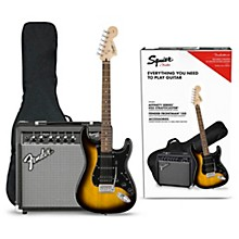 Affinity Series Stratocaster HSS Electric Guitar Pack with Fender Frontman 15G Amp Brown Sunburst