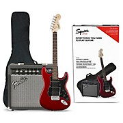 Affinity Series Stratocaster HSS Electric Guitar Pack with Fender Frontman 15G Amp Candy Apple Red