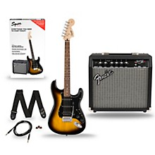 Squier Affinity Stratocaster Pack HSS Electric Guitar with Fender Frontman 15G Amp