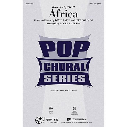 Cherry Lane Africa 2-Part by Toto Arranged by Roger Emerson