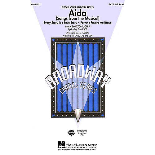 Hal Leonard Aida (Songs from the Musical) ShowTrax CD Arranged by Ed Lojeski