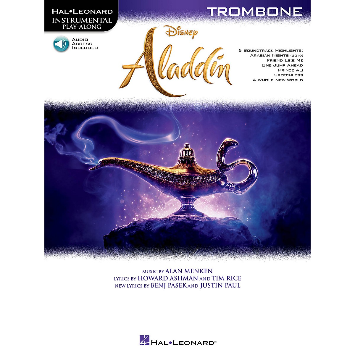 Hal Leonard Aladdin for Trombone Instrumental Play-Along Book/Audio Online