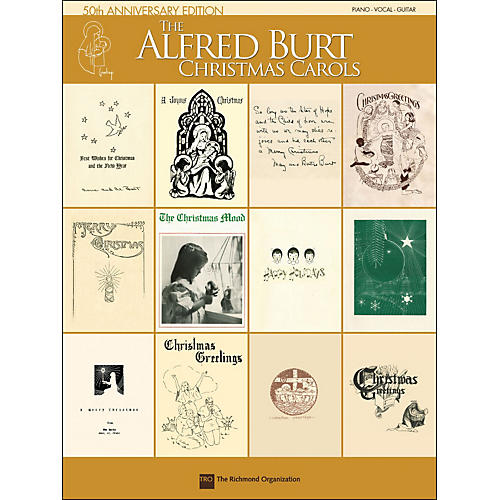 Hal Leonard Alfred Burt Christmas Carols 50th Anniversary Edition arranged for piano, vocal, and guitar (P/V/G)