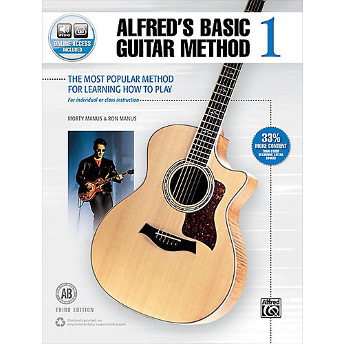 Alfred Alfred's Basic Guitar Method 1 Book & Online Audio 3rd Edition