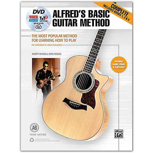 Alfred Alfred's Basic Guitar Method, Complete Book, DVD & Online Audio, Video & Software  Revised