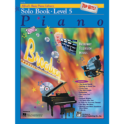 Alfred Alfred's Basic Piano Course Top Hits! Solo Book 5
