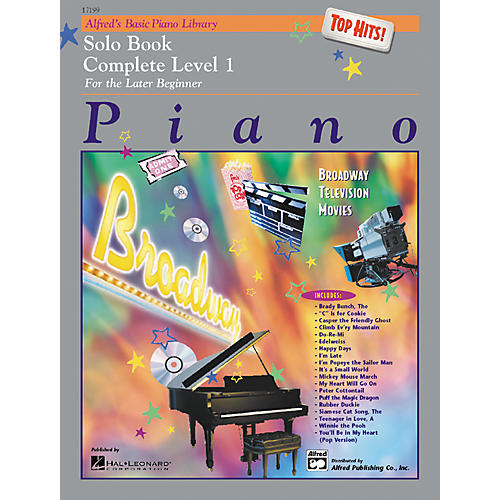 Alfred Alfred's Basic Piano Course Top Hits! Solo Book Complete 1 (1A/1B)