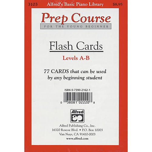 Alfred Alfred's Basic Piano Prep Course Flash Cards Levels A & B