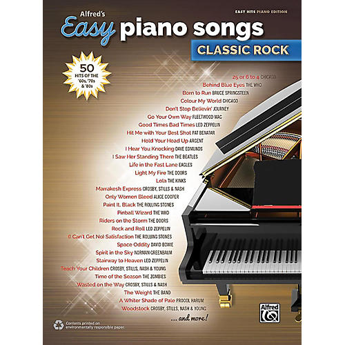 Alfred Alfred's Easy Piano Songs: Classic Rock - Easy Hits Piano