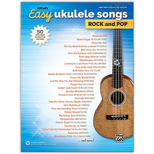 Alfred Alfred's Easy Ukulele Songs: Rock and Pop, Easy Hits Ukulele TAB Songbook