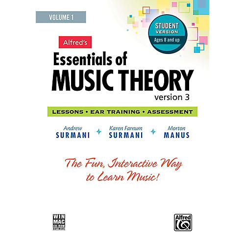 Alfred Alfred's Essentials of Music Theory: Software, Version 3 CD-ROM Student Version, Volume 1