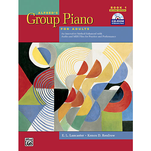 Alfred Alfred's Group Piano for Adults Student Book 1 (2nd Edition) Book 1 with CD-ROM