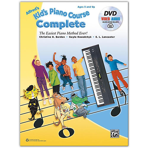 Alfred Alfred's Kid's Piano Course Complete Book, CD & DVD