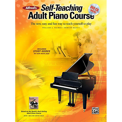 Alfred Alfred's Self-Teaching Adult Piano Course Book, CD & DVD