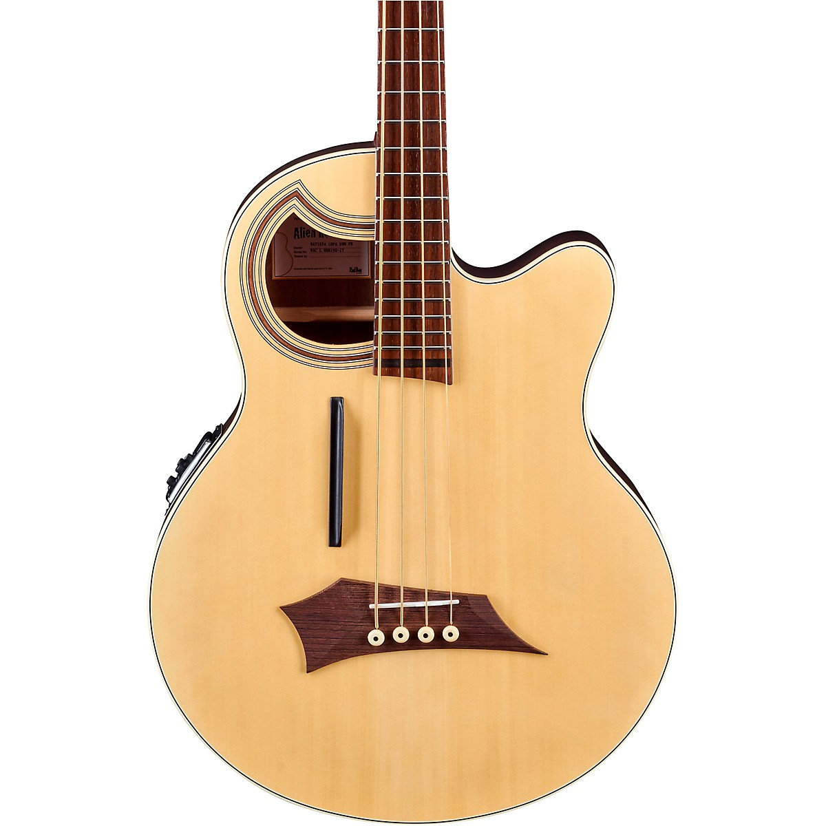 Warwick Alien Deluxe Thinline 4-String Acoustic-Electric Bass