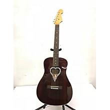Fender Alkaline Trio Malibu Mahogany Acoustic Guitar