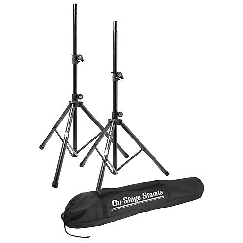 On-Stage All-Aluminum Speaker Stand Pak With Draw String Bag