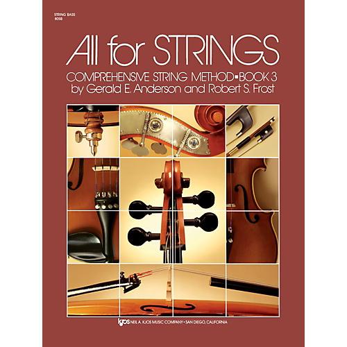 KJOS All For Strings 3 String Bass