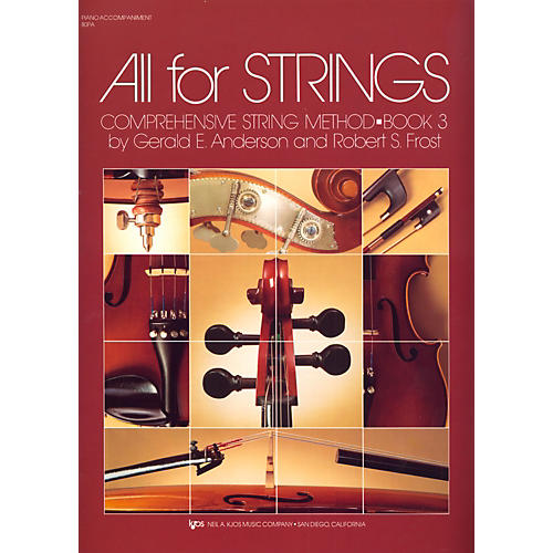 KJOS All For Strings Book 3-PIANO ACCMP