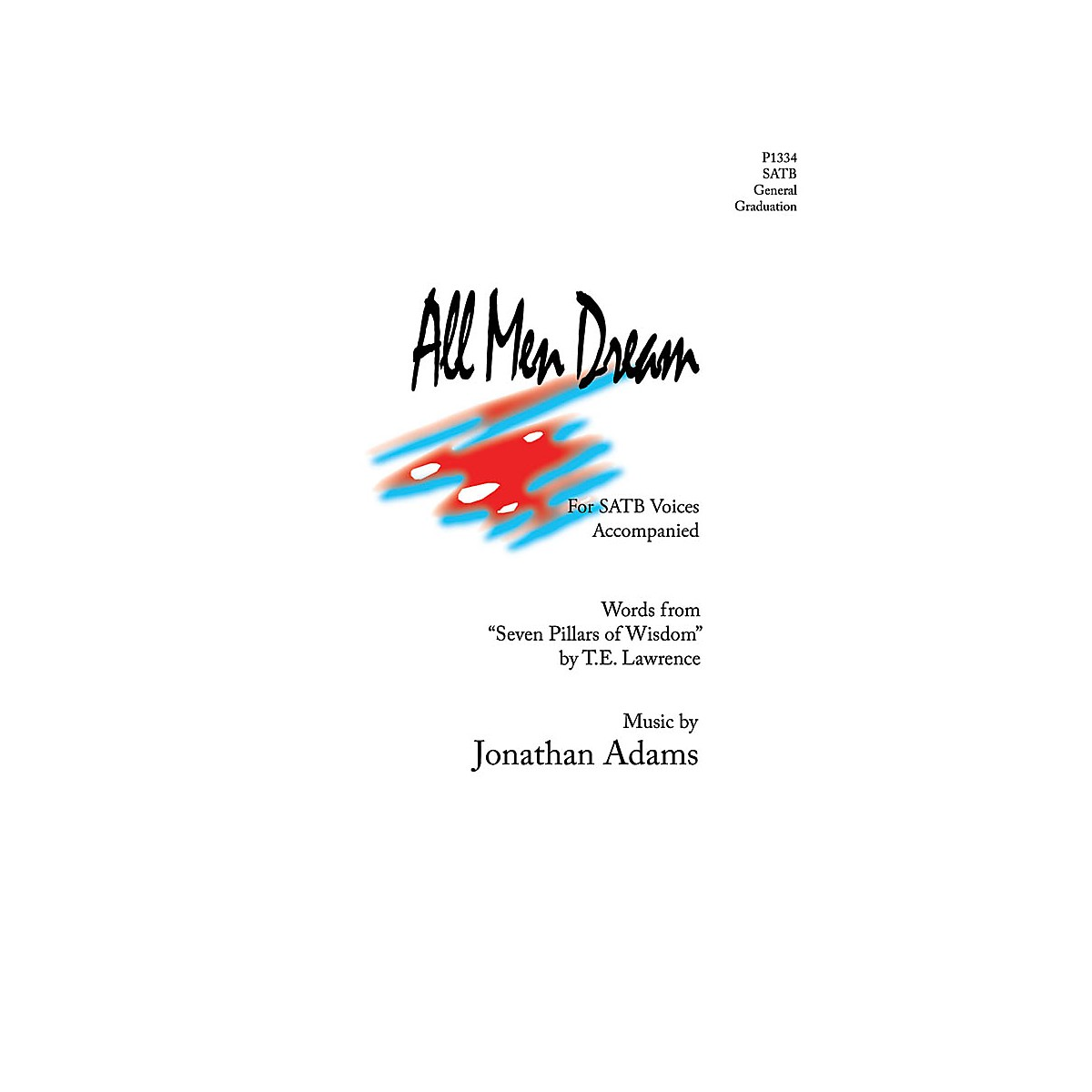 Pavane All Men Dream SATB composed by Jonathan Adams