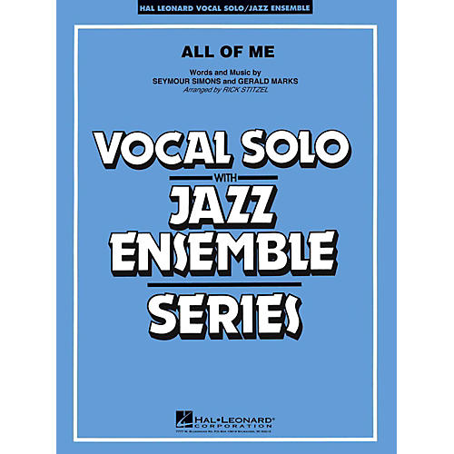 Hal Leonard All Of Me Vocal Solo Jazz Band Level 3 - 4