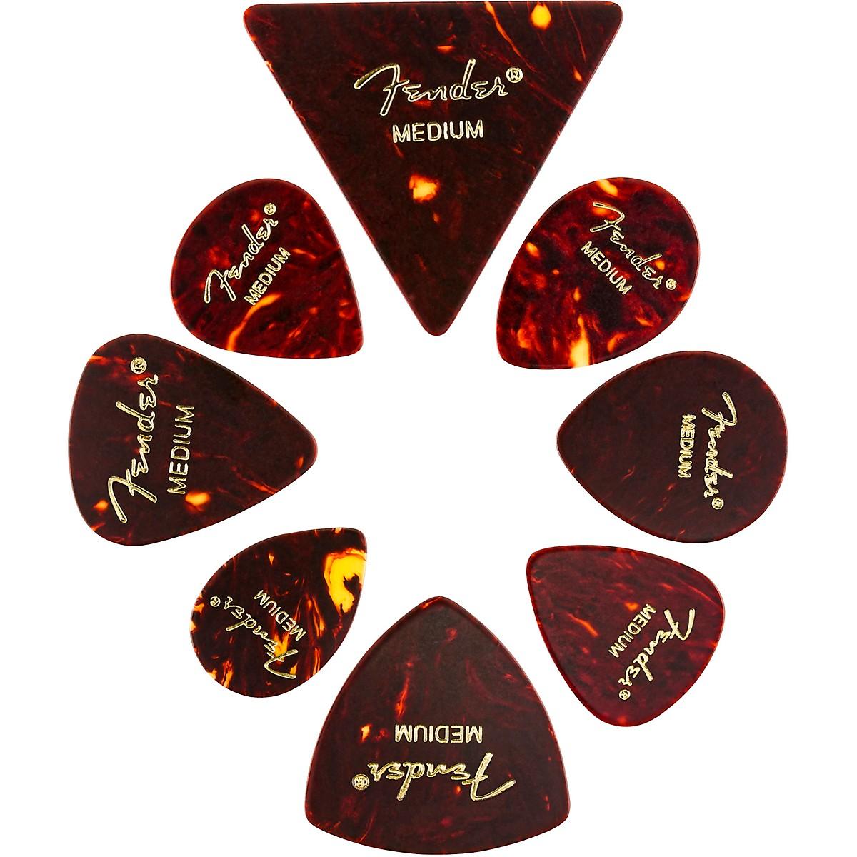 Fender All Shapes Celluloid Medley, Medium Guitar Picks (8-Pack)