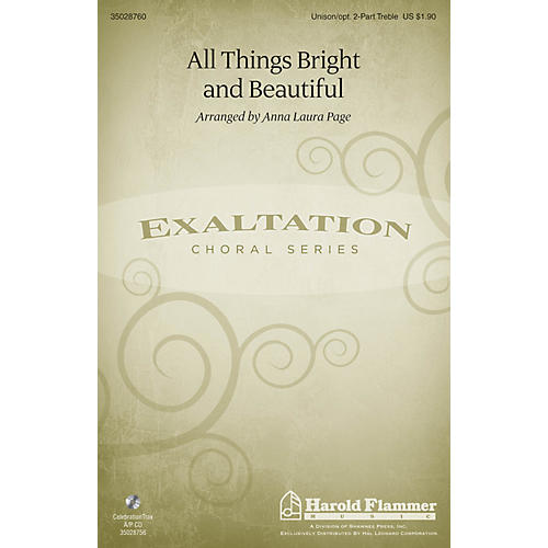 Shawnee Press All Things Bright and Beautiful Unison/2-Part Treble arranged by Anna Laura Page