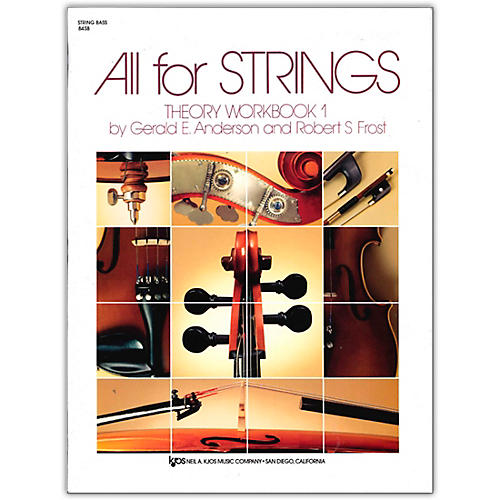 KJOS All for Strings Theory Workbook 1-String Bass